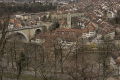 Untertorbrücke and old city of Bern. Switzerland. Royalty Free Stock Image