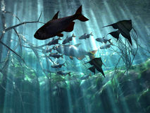 Unterwasser vektor abbildung