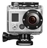 Unterwasser-exteram Kamera lokalisiert auf Weiß Lizenzfreie Stockfotografie