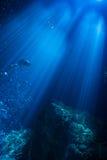 Unterwasser-Sumbeams Stockfoto