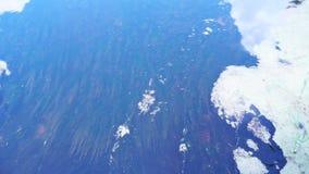 Unterwasseralgen und der Fluss stock video footage