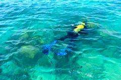 Unterwasseratemgerät Stockbilder