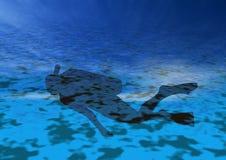Unterwasseratemgerät in der Tätigkeit Lizenzfreies Stockfoto