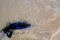 Unterwasseratemgerät-Flossen Stockfotografie