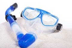 Unterwasseratemgerät-Schablone Stockfotos