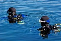 Unterwasseratemgerät-Serie Lizenzfreies Stockfoto