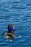 Unterwasseratemgerät-Serie Stockfoto