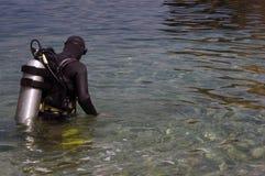 Unterwasseratemgerät-Taucher Lizenzfreies Stockfoto