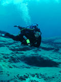 Unterwasseratemgerät-Taucher - Morrison Frühlinge lizenzfreie stockfotos
