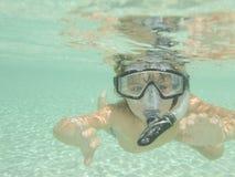 Unterwasseratemgerät und Snorkel Stockfoto