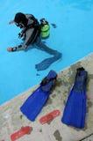 Unterwasseratemgerättaucher Lizenzfreies Stockbild