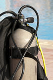 Unterwasseratemgerätsauerstoffbecken Stockbild