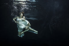 Unterwasserballetttänzer Lizenzfreie Stockfotos