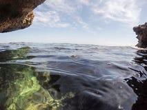 Unterwasserbild Las-Dienstturnus-Naturreservat Denia Alicante Spain lizenzfreies stockbild