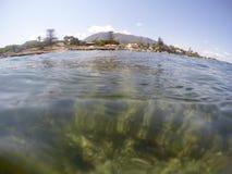 Unterwasserbild Las-Dienstturnus-Naturreservat Denia Alicante Spain lizenzfreie stockfotos
