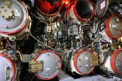 Unterwasserboot U11, Torpedo-Raum Stockfotos