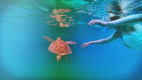 Unterwasserglück Stockbilder