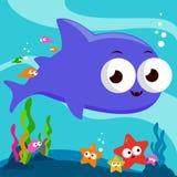 Unterwasserhaifisch stock abbildung