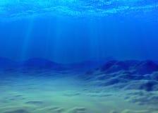 Unterwasserhintergrund Stockbild