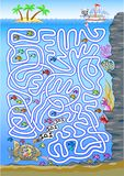 Unterwasserlabyrinth für Kinder Lizenzfreies Stockbild