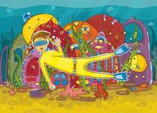 Unterwasserlebensdauer. Lizenzfreie Stockfotografie