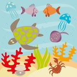Unterwasserlebensdauer Stock Abbildung