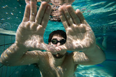 Unterwassermann Lizenzfreies Stockfoto