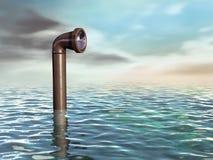 Unterwasserperiskop Stockfotografie