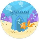 Unterwasserschloss Lizenzfreie Stockbilder