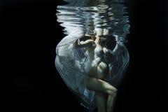 Unterwasserschwangerschaft Stockfotografie