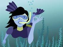 Unterwasserschwimmer Lizenzfreie Abbildung