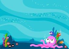Unterwasserseetierhintergrund lizenzfreie abbildung