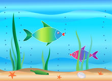 Unterwasserszene Lizenzfreies Stockbild