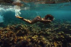 Unterwassertrieb Stockfoto