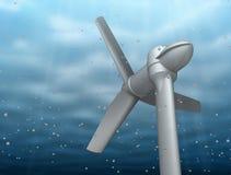 Unterwasserturbinehahn-Flussenergie Lizenzfreies Stockfoto