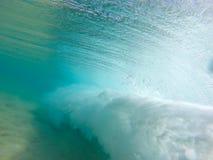 Unterwasserwellenansicht in Hawaii Stockbild