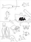 Unterwasserzeichnung Lizenzfreies Stockbild