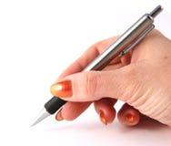Unterzeichnen des Vertrages Lizenzfreies Stockbild