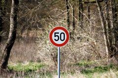 Höchstgeschwindigkeit 50 Stockbilder