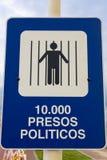 Unterzeichnen Sie die Schilderung der politischen Situation während der Diktatur I Lizenzfreie Stockfotos