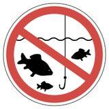 Unterzeichnen Sie die Zeit des Laichens und fischen wird verboten, Fische, um nicht zu fangen vektor abbildung