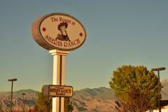 Unterzeichnen Sie für Sheri-` s Bordell in Nevada Lizenzfreies Stockfoto