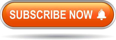 Unterzeichnen Sie jetzt Ikonennetz-Knopforange stock abbildung