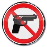 Unterzeichnen Sie keine Feuerwaffen werden gewährt stock abbildung