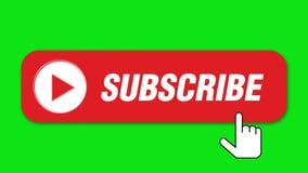Unterzeichnen Sie Knopf auf grünem Hintergrund stock footage