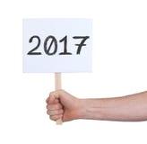 Unterzeichnen Sie mit einer Zahl - das Jahr 2017 Lizenzfreie Stockbilder