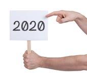 Unterzeichnen Sie mit einer Zahl - das Jahr 2020 Lizenzfreie Stockfotos