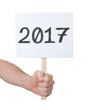 Unterzeichnen Sie mit einer Zahl - das Jahr 2017 Lizenzfreie Stockfotos