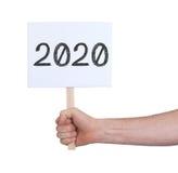 Unterzeichnen Sie mit einer Zahl - das Jahr 2020 Stockfotografie