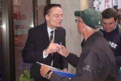 Unterzeichnende Autogramme Dieter Lasers Stockfoto